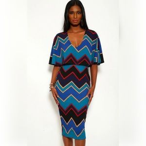 Jcreated Dresses - Chevron Print Maxi Dresses
